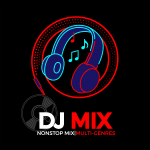 logo headphone for dj mix radio channel