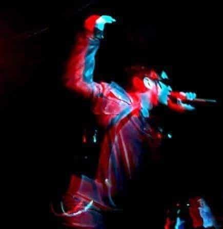 Matt Willis sing a song during a concert